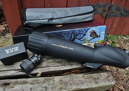 SWIFT OPTICS Premier 80mm Spotting Scope  & 20x-80x Zoom Eye