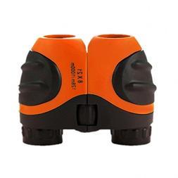 Orange Kids Binoculars 8 X 21 for Bird Watching, Watching Wi