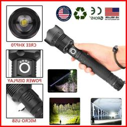 Outdoor Hunting High Power LED Flashlight Telescopic Zoom US