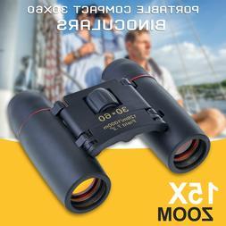 Outdoor Travel Folding 30 x 60 ZOOM Mini Compact Binoculars