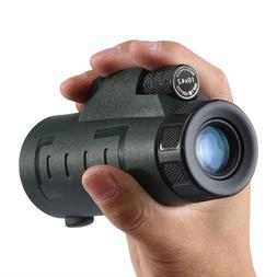 Asika 10x42 Pocket Waterproof Monocular Color Black