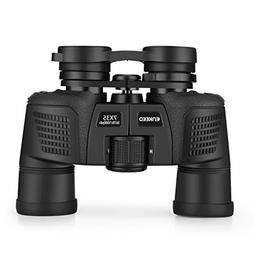 Enkeeo Porror Prism Binoculars with Case for Bird Watching,