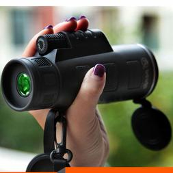 Portable 40x60 HD Zoom Optical Monocular Scope Hunting Campi
