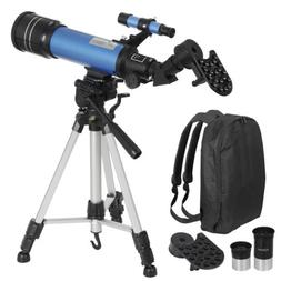 Portable Astronomical Refractor Telescope Travel Scope w/ Ba
