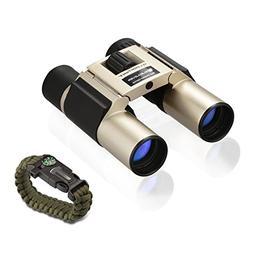 ELECLOVER 10x25 Portable High Definition Full Coated Optics