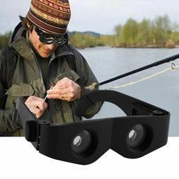 Portable Glasses Style Magnifier Telescope Binoculars For Fi