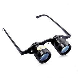 Portable 10x 34 Glasses Ultralight Hand Free Fishing Binocul