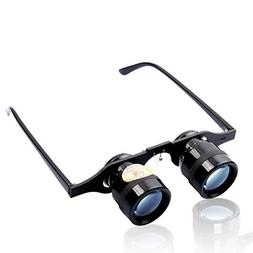 FEELARA 10x34 Portable Hand Free Fishing Binoculars Zoom Tel