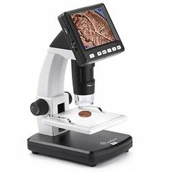 Ivation Portable Digital HD LCD Microscope – Rechargeable