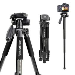 "Professional 62"" Portable Tripod Ball Head for Canon Nikon D"
