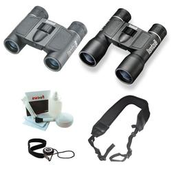Bushnell Powerview 10x32 & 8x21 Roof Binocular Bundle w. Str