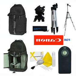 PRO PHOTO TRIPOD + BACKPACK + REMOTE FOR CANON REBEL EOS T3I