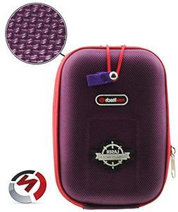 Navitech Purple EVA Rangefinder Hard Case/Cover with Carabin