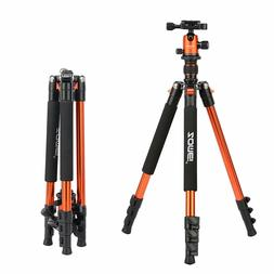 ZOMEIQ555 63'' Portable Aluminium Tripod&Ball Head Travel fo