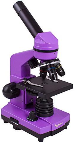 Levenhuk Rainbow 2L Amethyst Student Microscope with Experim