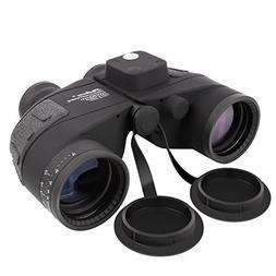 SkyGenius 10X50 Rangefinder Binoculars with Compass, BAK4 Pr