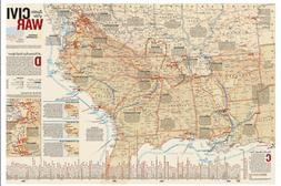 National Geographic RE00620346 Map Of Battles Of The Civil W