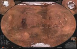 National Geographic RE00622075 Map Of Mars - The Red Planet