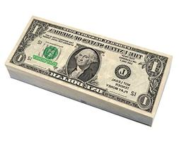 Real Best Looking US Play Money, Double Sided, Smaller Size