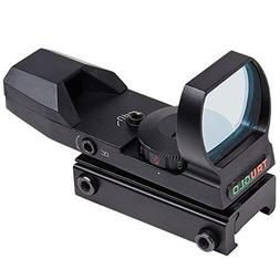 TRUGLO Open Red-Dot Sight Dual-Color Black