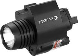 BARSKA Red Laser with 200 Lumen Flashlight, Black
