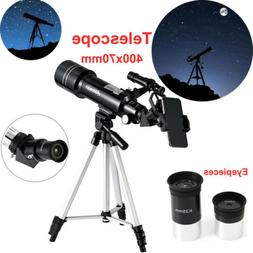 Refractor Astronomical Telescope 400x70mm Adjustable Aluminu