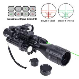 New Rifle Scope 4-16x50 EG w.Holographic 4 Reticle HD Sight/&Green Laser Combo