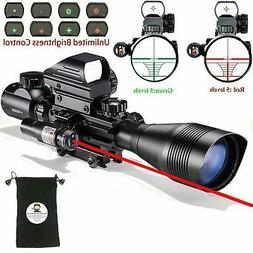 Rifle Scope Combo C4-16x50EG with Green Laser  4 Holographic