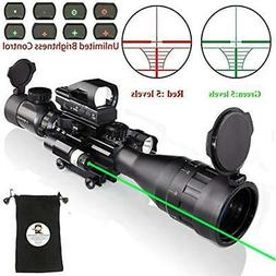 Rifle Scope Combo C4-16x50EG With Green Laser / Holographic