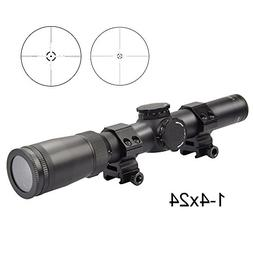 Fyland 1-4x24mm Riflescope, Reticle Rifle Scope 30mm Tube fo