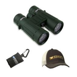 safari 10x42 binoculars with cap and microfiber