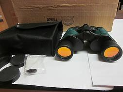 SE - Binocular - Black Body With Green Inserts, Dual Lens, 7