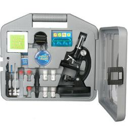 AMSCOPE 52pc 120X-1200X Starter LED Microscope & Science Kit
