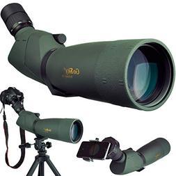 Gosky Skyhawk 20-60x82mm Ultra HD Spotting Scope Kit- Waterp