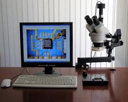 3.5X-90X Simul-Focal Trinocular Articulating Microscope + 3M