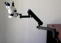 AmScope 3.5X-90X Trinocular Articulating Zoom Microscope + 5