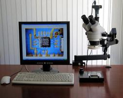 AmScope Zoom Microscope Articulating Clamp 3.5-90x + 9MP Cam