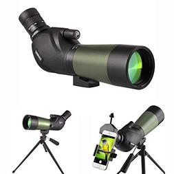 Gosky 20-60X60 Spotting Scope - BAK4 45 Degree Angled Eyepie