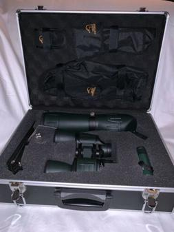 DUCKS UNLIMITED SPOTTING SCOPE AND BINOCULAR SET w/Hard Side