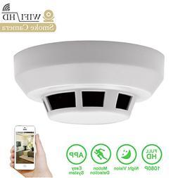 Daretang 1080p Spy Smoke Detector Camera Night Vision Wifi H