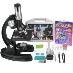AmScope 52pc 120X-1200X Starter Compound Microscope Science