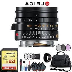 Leica Summicron-M 28mm f/2 Lens  Complete Accessory Kit with