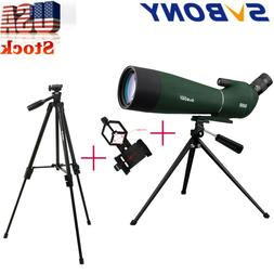 SV28 20-60x80mm Spotting Scope BAK4 Prism Refractor 45°Angl