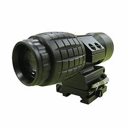 Tactical 3X Magnifier Rifle Scope with Flip To Side Mount Gu