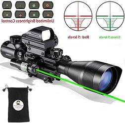 Scope Combo C4-16x50EG with Laser and 4 Holographic Red&Gree