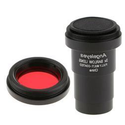 "Telescope Eyepiece Barlow Lens 3X Magnification 1.25"" T Adap"