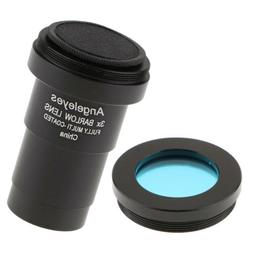 Telescope Eyepiece Barlow Lens 3X Magnification + Astronomic