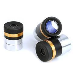 "Solomark Telescope Eyepiece Set Aspheric 4mm 10mm 23mm 1.25"""