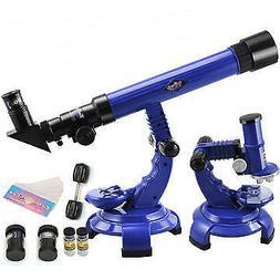 Telescope + Microscope Set Science Nature Educational Astron