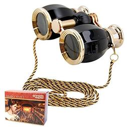 HQRP Theater Glasses Binoculars Antique Style Black pearl wi